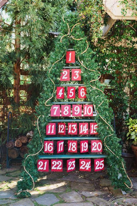 diy advent calendar   ladder hgtv