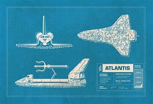 NASA Mashups, Blueprints of NASA Vehicles Combined With ...