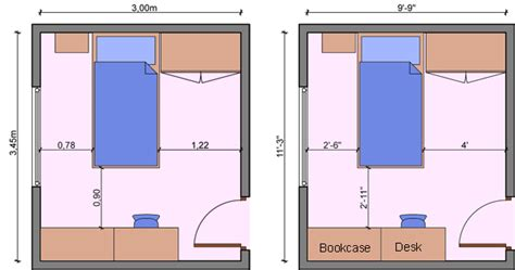 Bedroom Sizes kid s bedroom layouts with one bed