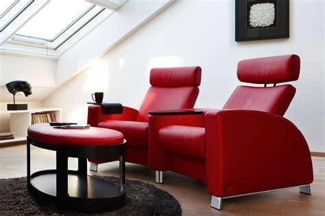 canapé home cinéma combinaison de deux canapés individuels en cuir home
