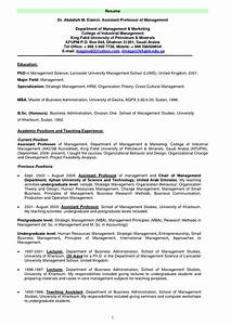 sample resume for adjunct professor position bongdaaocom With instructor resume