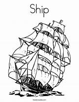 Coloring Ship Built California Usa sketch template