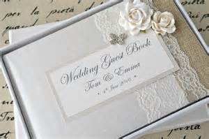 wedding guest book luxury personalised wedding guest book album set lace butterfly design creative bridal