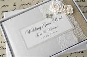 wedding album books luxury personalised wedding guest book album set lace butterfly design creative bridal