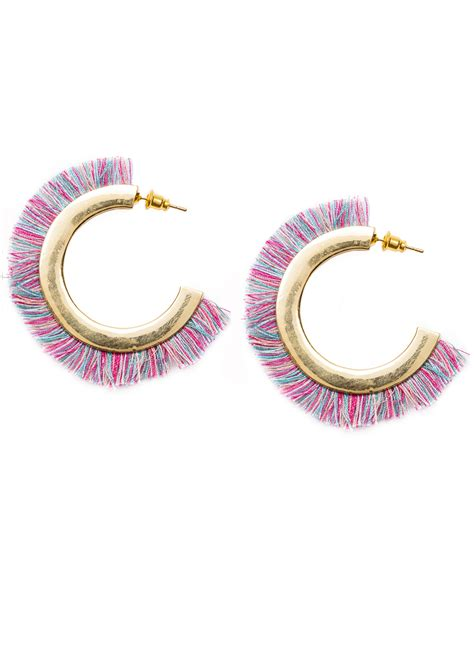 colorful earrings colorful bold hoop earrings happiness boutique
