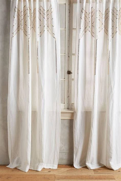 Gold And White Curtains by Gleaming Elora Curtain In Gold