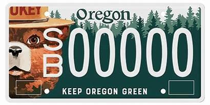License Bear Smokey Plate Oregon Plates August