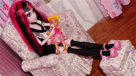 Poltrona De Patchwork Como Fazer : Como Fazer Poltrona #2 Para Boneca Monster High, Barbie