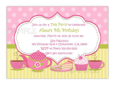 how to create tea party iinvitations templates
