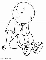 Caillou Coloring Pages Cool2bkids Printable Cartoon Print Printables Sheets Imagination Stamps Boys Drawings Index Pag Bald sketch template