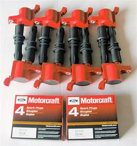 2007 Ford F150 5 4l 8 Ignition Coils Heavy Duty Red  8