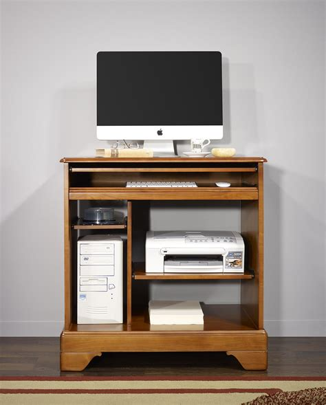 petit bureau informatique en merisier de style louis