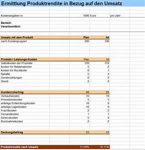 Deckungsbeitrag Berechnen Excel : produktrendite bez glich des umsatzes ermitteln excel ~ Themetempest.com Abrechnung