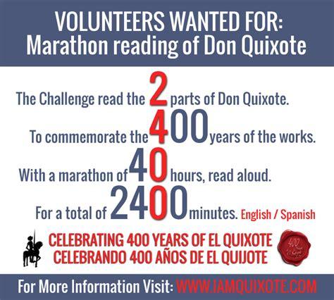 marathon reading lectura maratonica don quixote