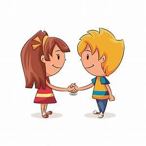 Children Shake Hand Clipart - ClipartXtras
