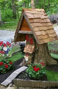 gnome house from a tree stump home sweet gnome fairy With katzennetz balkon mit bosch home garden