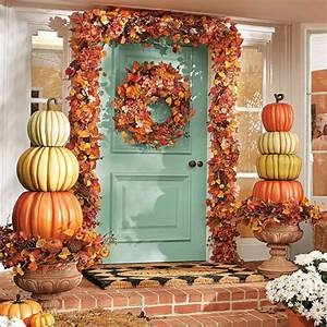 Create, A, Beautiful, Fall, Display, With, A, Stacked, Pumpkin, Topiary
