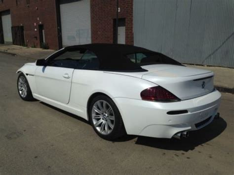 Find Used 2006 Bmw 650i Convertible White W Red Interior