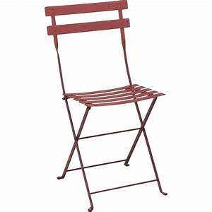 Chaise de jardin en acier Bistro piment Leroy Merlin