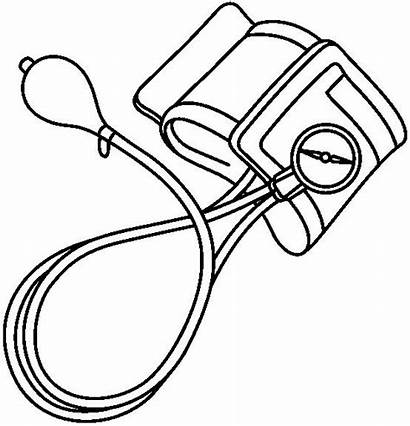 Blood Pressure Clipart Cuff Machine Coloring Pages