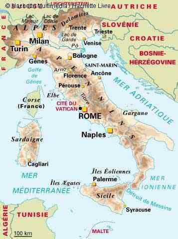 carte italie geographique vacances arts guides voyages