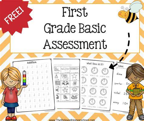 Free First Grade Assessment  The Relaxed Homeschool