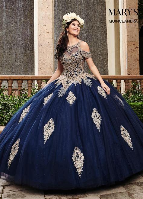 lareina quinceanera dresses style mq  navygold