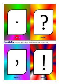 flash cards punctuation flash cards sb482 sparklebox