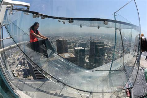 us bank tower observation deck slide discovering skyspace and a glass slide at u s bank