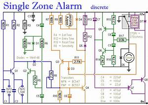 A Transistor Based Single Zone Alarm Circuit Diagram And