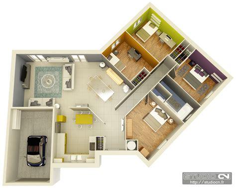 plan de chambre 3d plan de maison moderne en 3d maison moderne