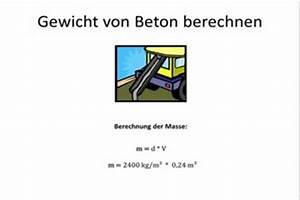 Beton Berechnen : video gewicht von beton berechnen so geht 39 s ~ Themetempest.com Abrechnung
