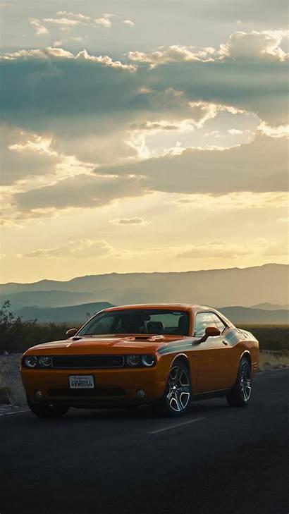 Dodge Challenger Side Road Iphone Background 5s