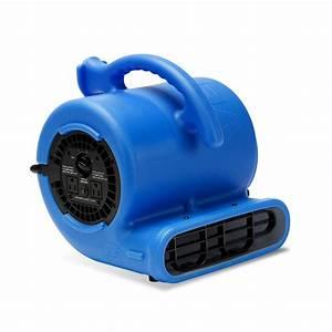 B air 1 4 hp 900 cfm 9 in air mover carpet dryer floor for Floor drying fan rental