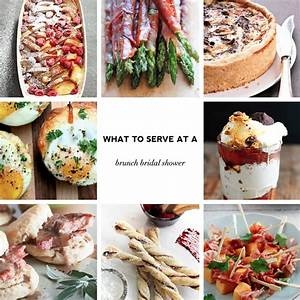 what to serve at a brunch bridal shower menus recipes With wedding shower brunch ideas