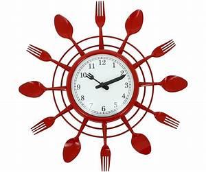 Grande Horloge Murale Originale : horloge cuisine rouge grande horloge pendule design horloges pinterest horloge ~ Teatrodelosmanantiales.com Idées de Décoration