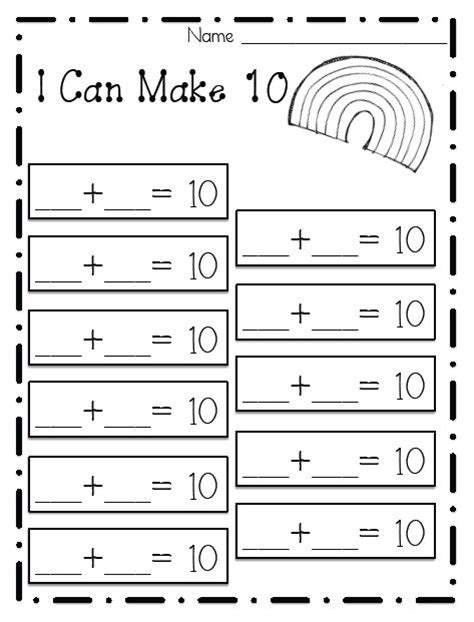 Ways To Make 10 Math Worksheets  1000 Ideas About Number