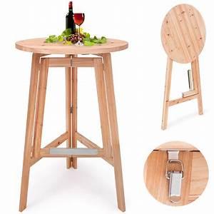 Table Haute Pliable : table haute table bar massive en bois pliable ~ Teatrodelosmanantiales.com Idées de Décoration