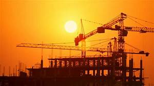 Stock video of construction site at sunset timelapse ...