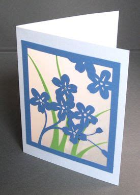custom spring flowers forget   cut paper silhouette