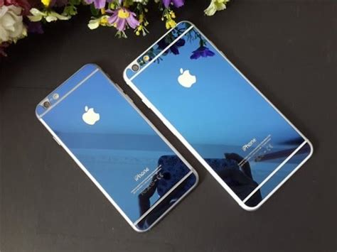 Iphone 6 metal bumper case with Tempered glass (Blue