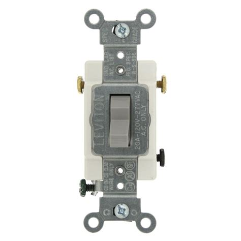 Leviton Amp Commercial Grade Way Toggle Switch Gray