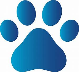 Blue Dog Paw Logo