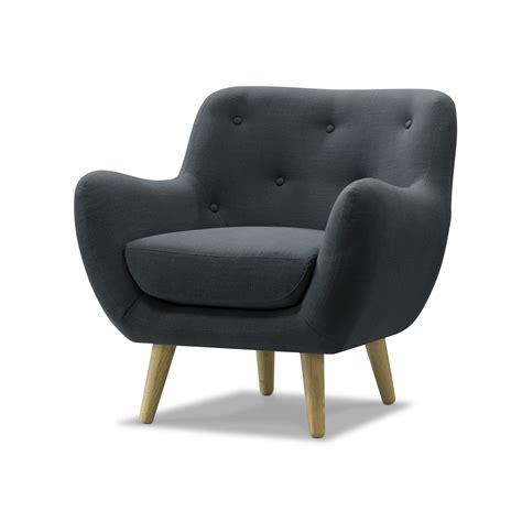 fauteuil de cuisine fauteuil esprit seventies en tissu gris gris poppy