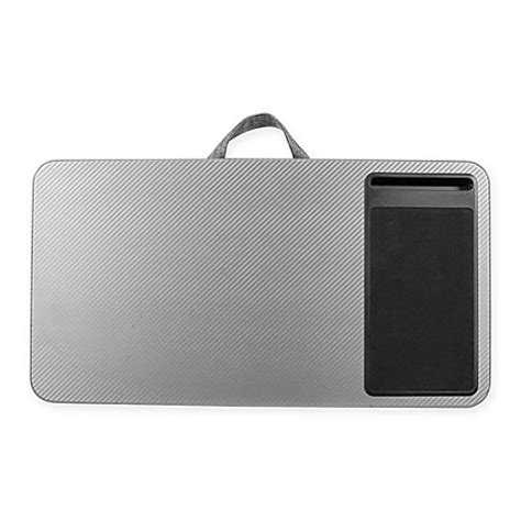 bed bath and beyond computer lap desk buy deluxe laptop lap desk in silver from bed bath beyond