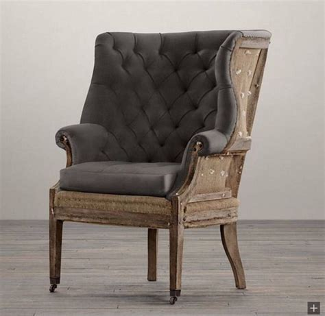 restoration hardware quot deconstructed quot wing chair