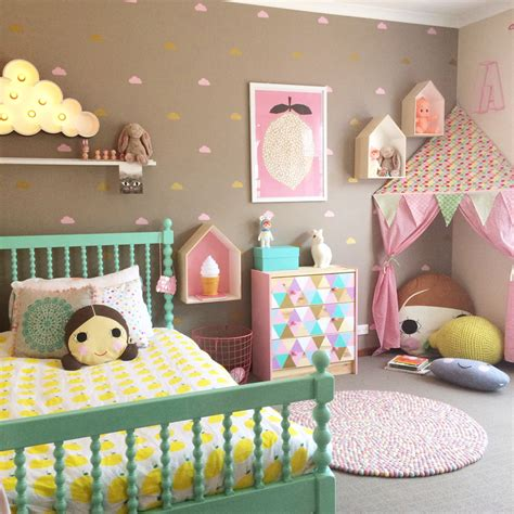 20 Whimsical Toddler Bedrooms for Little Girls Pillows