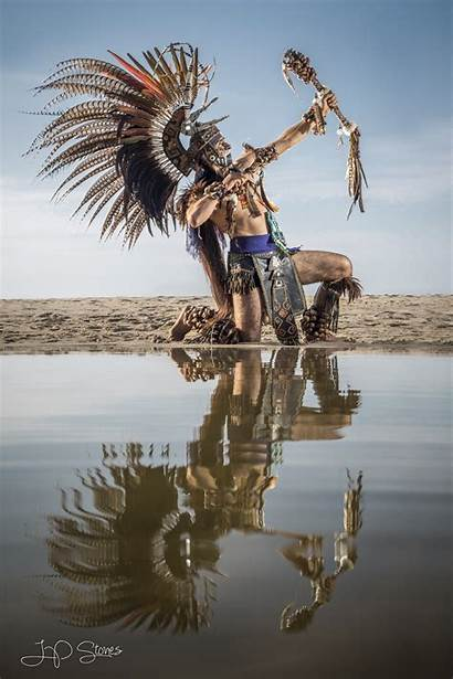 Aztec Warrior Dancer Workshop Mexican Stones Culture