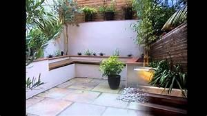 Creative Small courtyard garden design ideas - YouTube