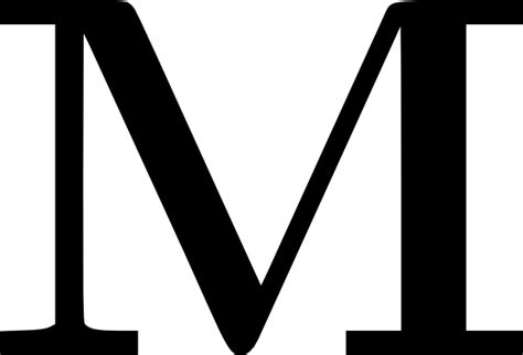 Fancy Letter M Clipart